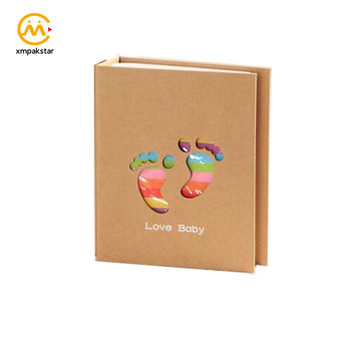 Distinctive design Hardcover Kraft Paper Baby Memory Photo Book With Perfect Binding