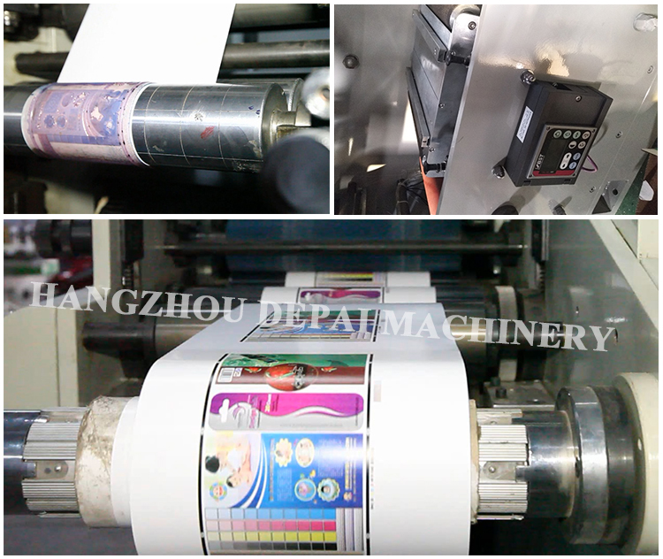 Paper roll flexo printing machine for printing drinking paper straw