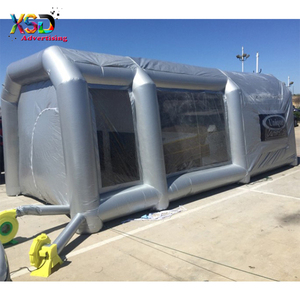 Waterproof pvc tarpaulin inflatable spray booth with filter system / France inflatable car paint booth for sale
