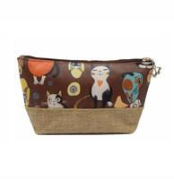 Latest Cute Popular Design Cosmetic Makeup Bag with PU