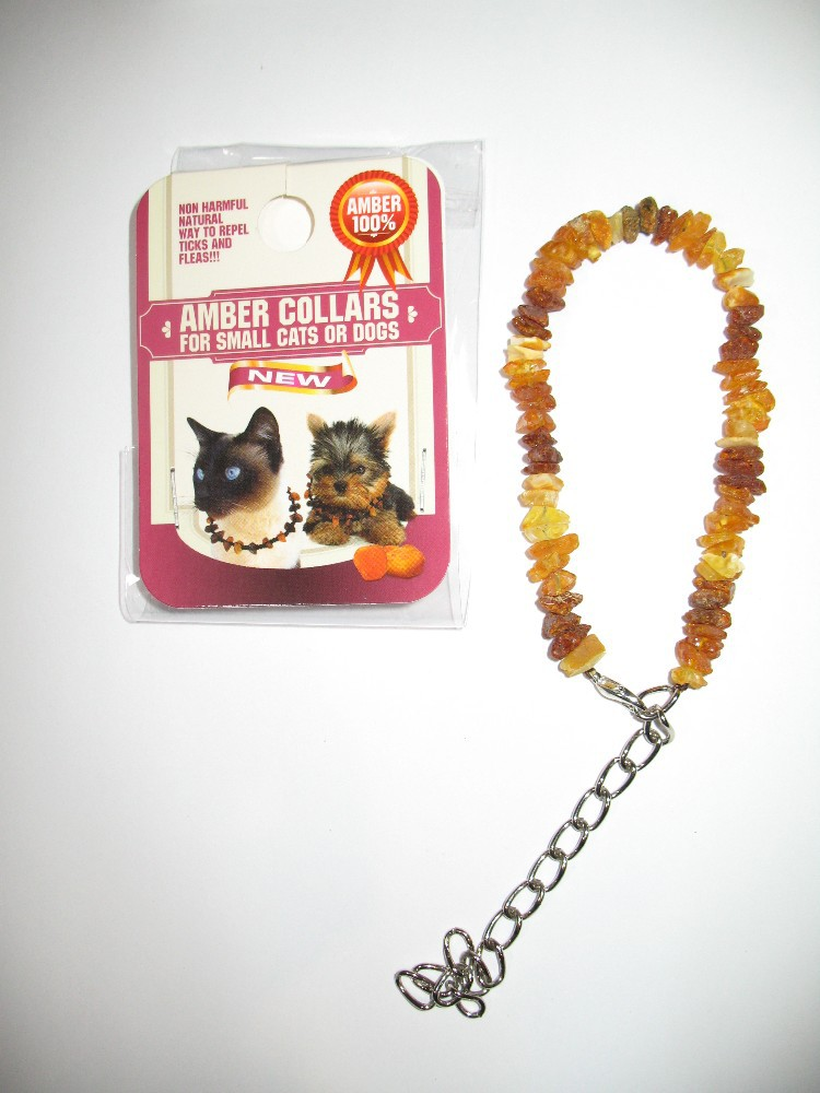 Amber collars for dogs and cats, size M, color MIX