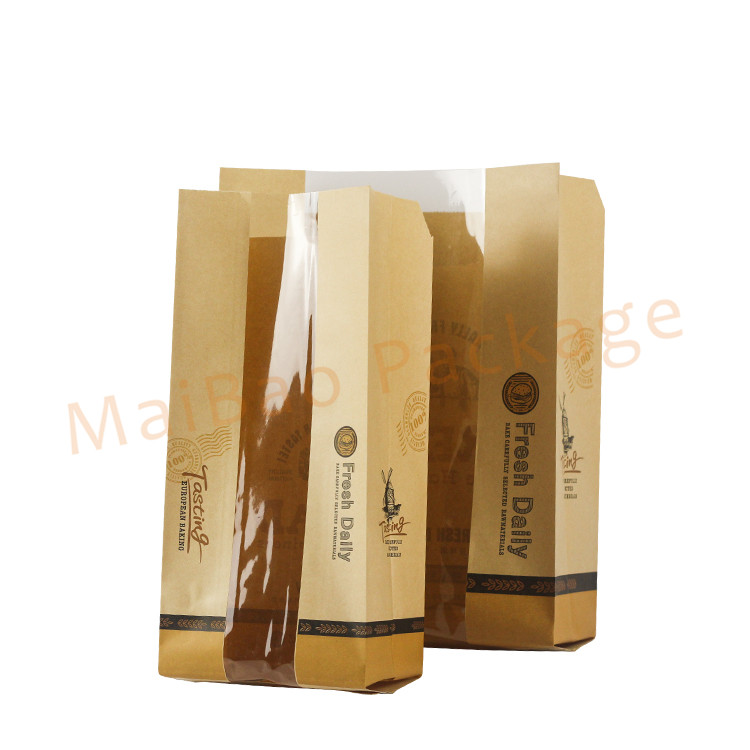 Food Grade Personalized Paper Baking Bakery Bread Bags For Homemade Bread Storage Packaging
