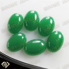 milky green glass man-made jade cabochons stone for sale