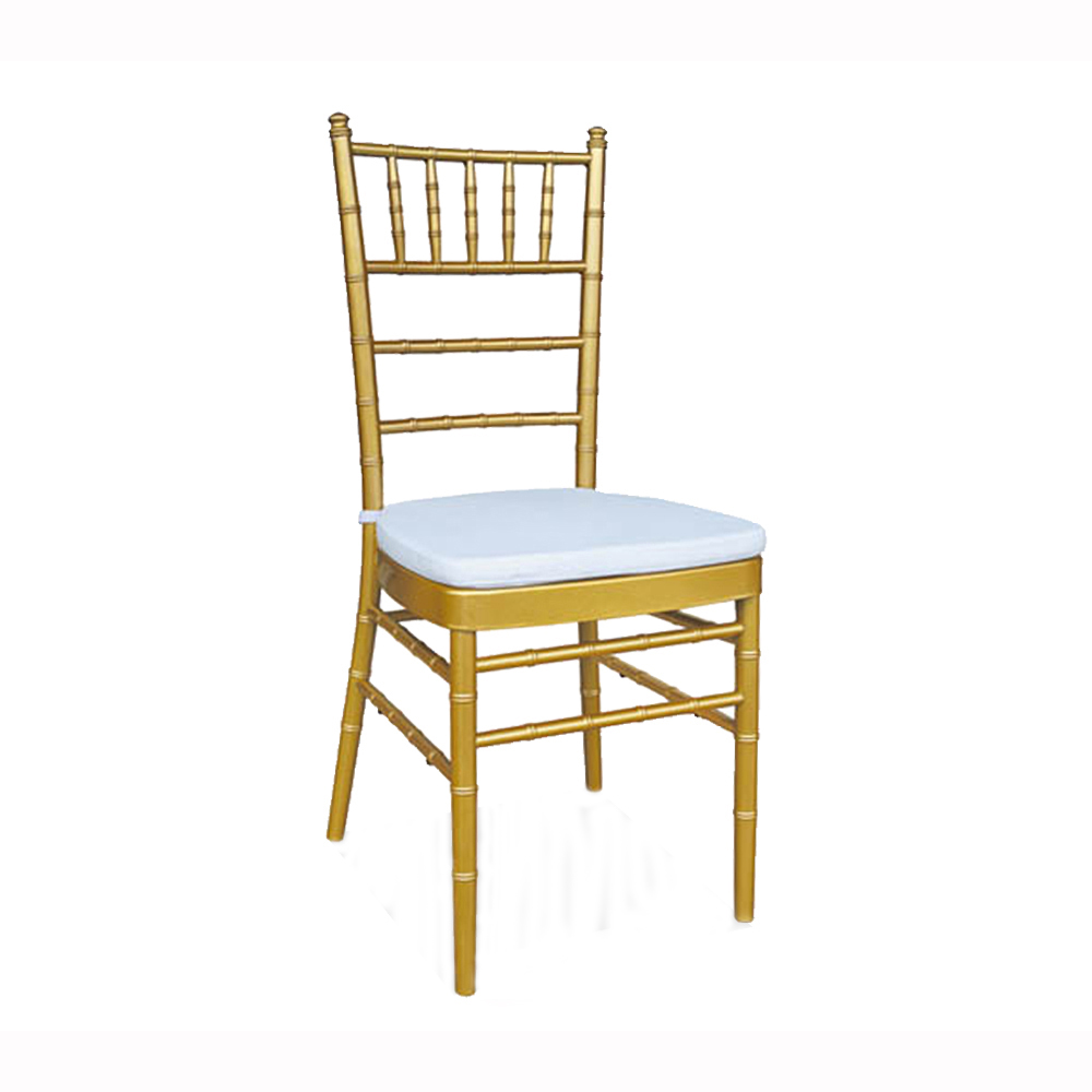 Wholesale metal stackable event tiffany chiavari wedding chair with cushion