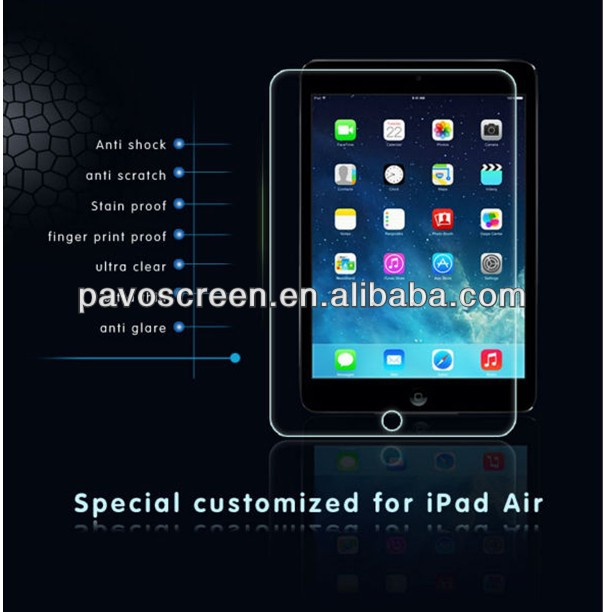 New Arrival! for ipad Air 9H Super Anti-scratch Tempered Glass Screen Protector, Anti-shock, Anti-fingerprint