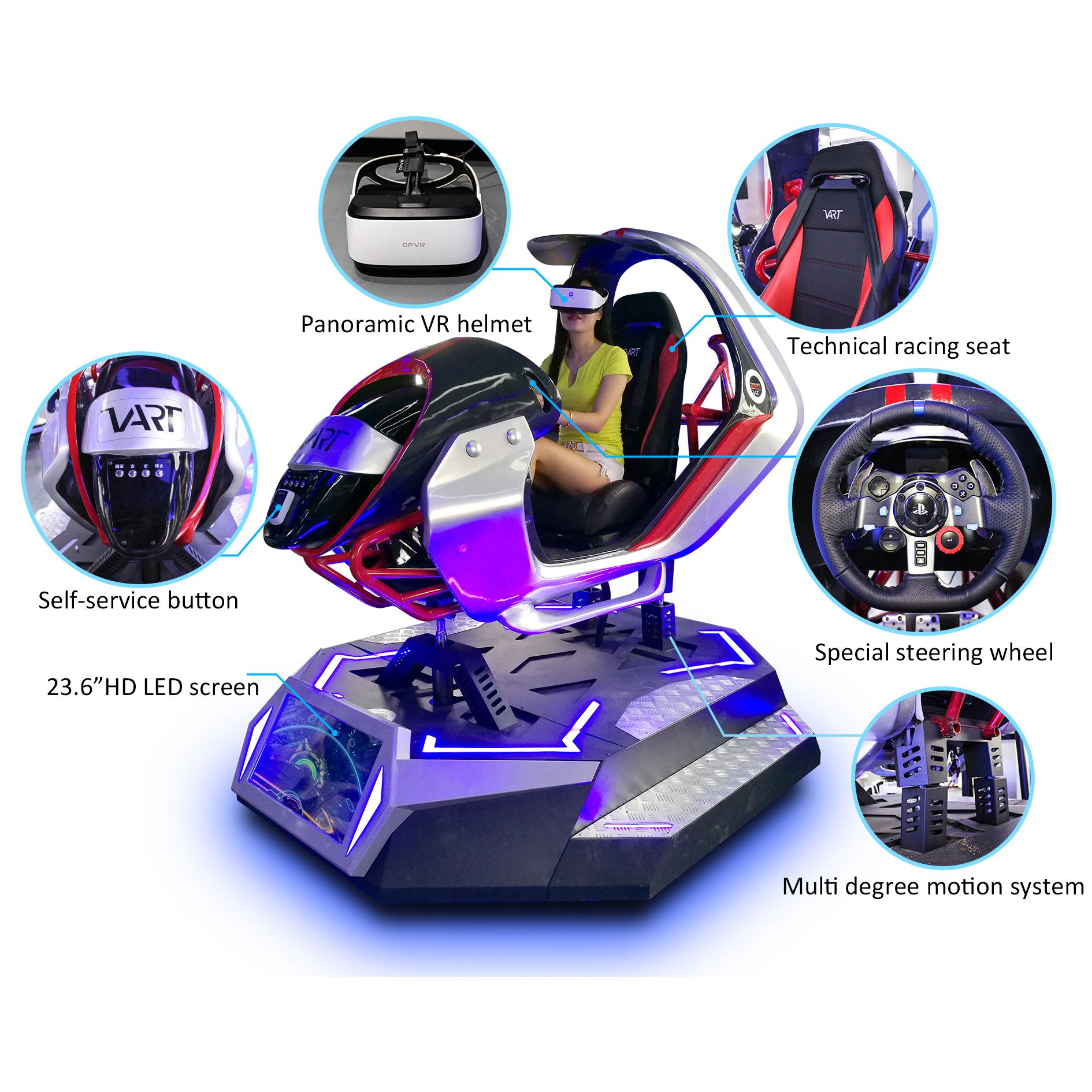 Virtual Reality Equipment 3 Screen Vr Racing Car Driving Simulator