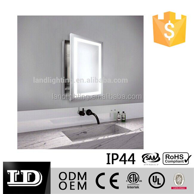Rectangular Led Illuminated Bathroom Mirror Light Ip44