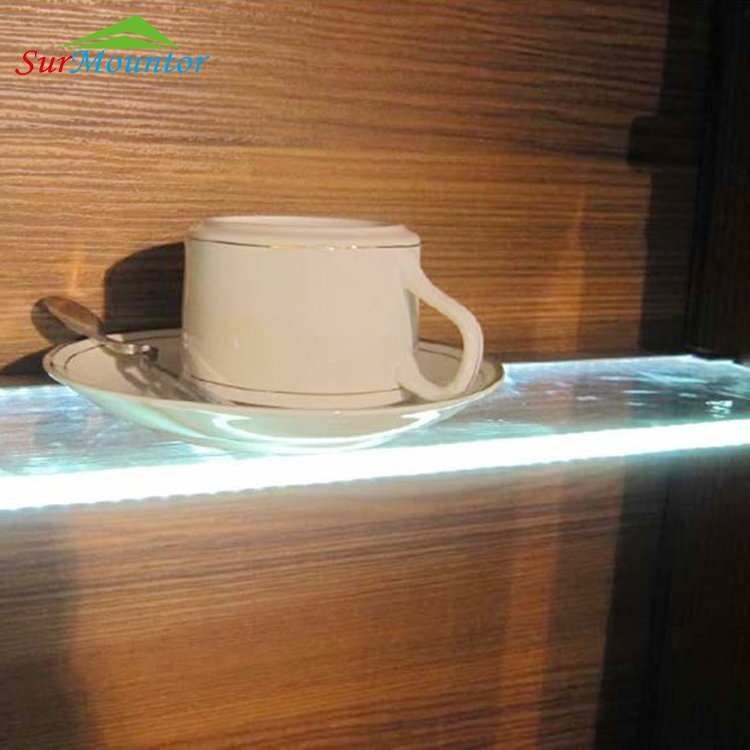 led channel glass shelf profile with CE RoHS