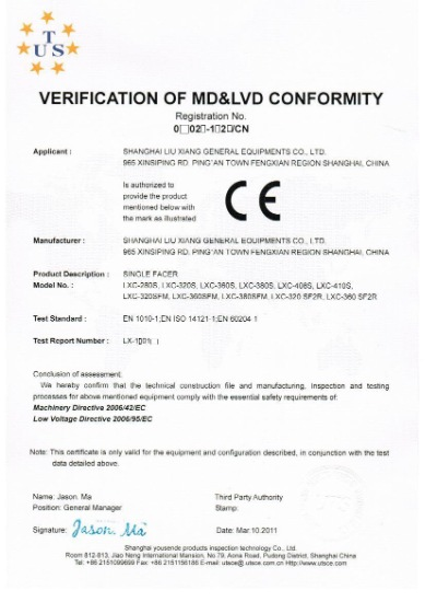 VERIFICATION OF MD&LVD CONFORMITY