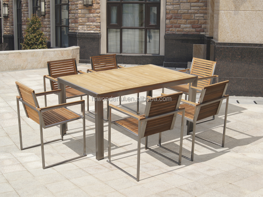 Teak Stainless Steel Outdoor Furniture - Teak Stainless Steel Outdoor Furniture - Palesten.com -