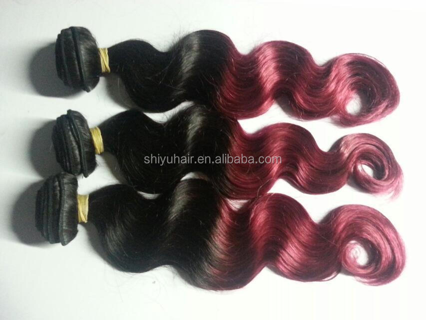 body wave brazilian hair swiss lace top remy human hair extensions two tone remy hair extension