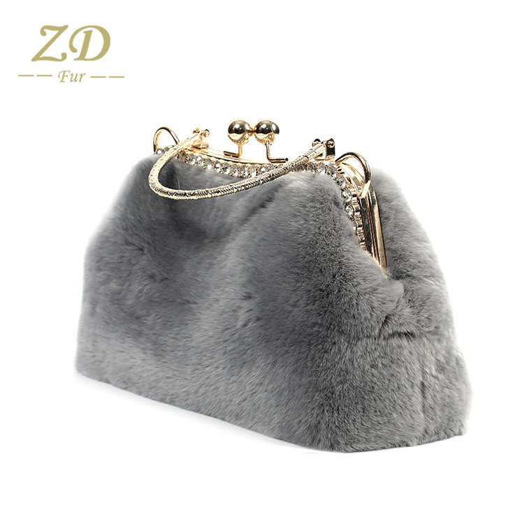 Wholesale china manufacturer hot sale real fur handbag strap bags new  coming real rabbit fur handbags 64f5e040b5c68
