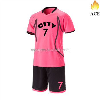 100% Polyester Pink Color Soccer /Football Jersey For Adults,Jogging & Training Wear