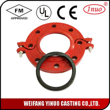 FM /UL Approved Split flange manufacturer Grooved Fittings Flange