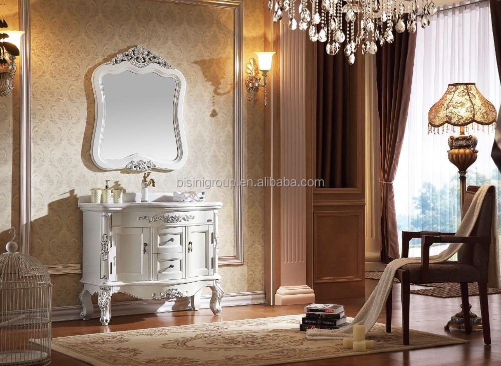 Diseño francés del arte del vintage de madera tallada baño vanidad ...