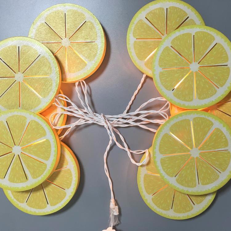 Wooden Lemon Crafts Home Decorative Led Light Pendant Outdoor Light String diwali lights
