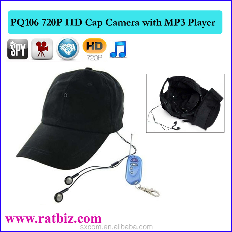 5mp 720p Hd Hat Hidden Video Camera With Mp3 Player