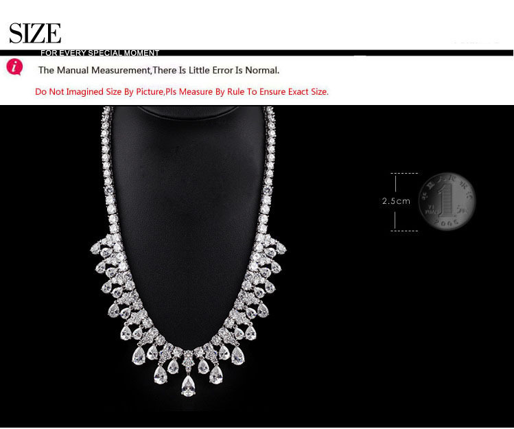 LUOTEEMI 2015 Tops Fashion Luxury Clear Cubic Zirconia Women Beautiful Quality Wedding CZ Bridal Jewelry Sets