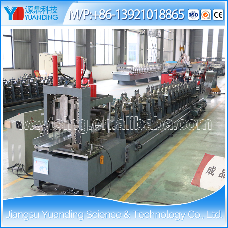 YTSING-YD-4389 Passed ISO and CE Hydraulic C Z Purlin Roll Forming Machine WuXi, C Shape Forming Machine