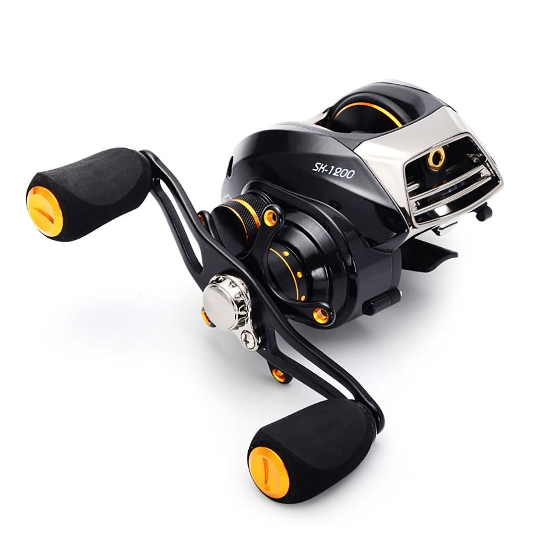 SeaKnight SK Baitcasting Reel Two Brake Magnetic Drag and Centrifugal Drag Systems 6.3:1 Gear Ratio 9 Lbs 14 Shielded Stainless Ball Bearings Ultra Smooth Fishing Casting Reel