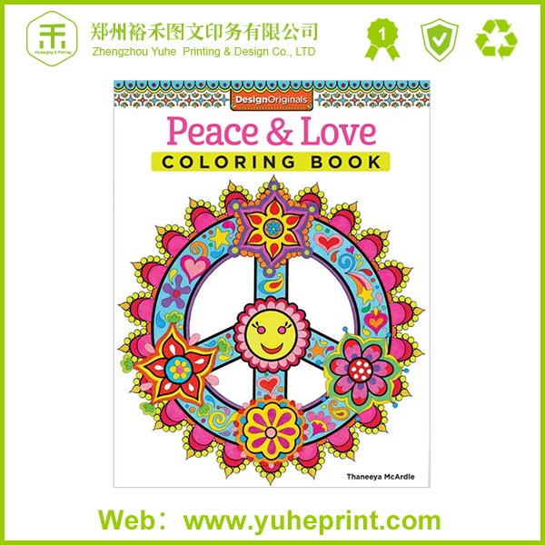 Colorful Cover Competitive Price Elegant Quality Cartoon Picture Thick Paper One Side Printing Anime Coloring