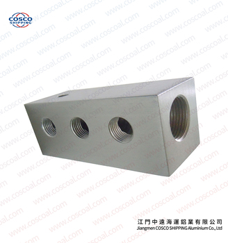 6063 Extruded Aluminum block with anodizing and CNC machining