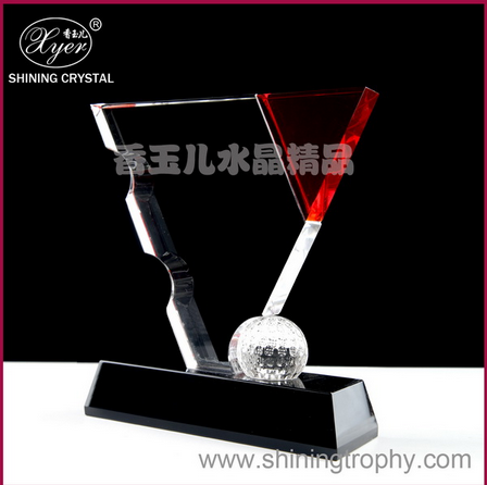Wholesale 2015 fashion crystal trophy cup k9 billiards trophy