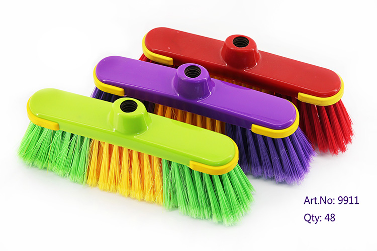 2018 Big Plastic Pp & Pet Bristle Material Garden Broom Head