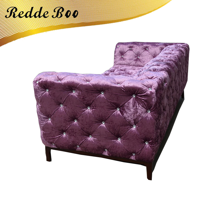 Cheap purple linen chesterfield fabric sofas and loveseats