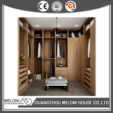 Professional bedroom wardrobe closet walk in wooden with soft closing doors