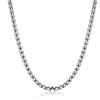 accessories fashion statement simple design chain unisex stainless steel silver necklace