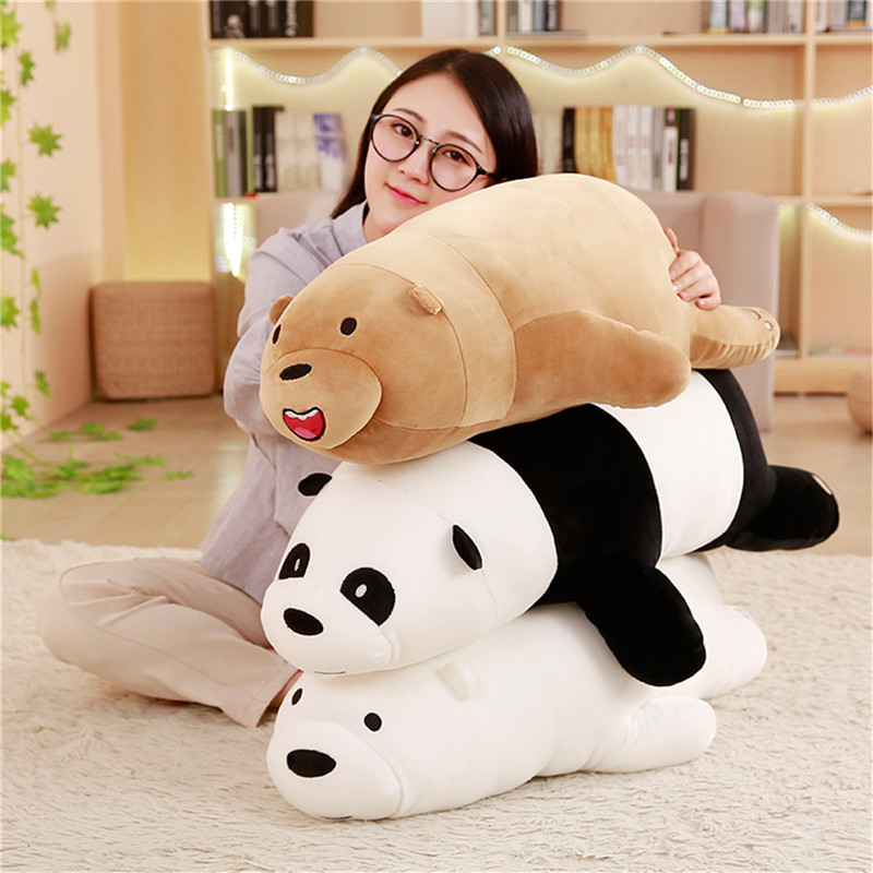 super soft cute cartoon we bare bears plush toy bear panda plush stuffed toy pillow anime doll wholesale