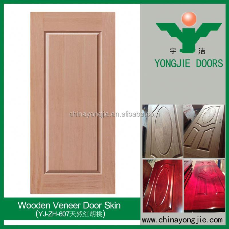 Jk P9205 White Wood Veneer Door Skin Pvc Plastic Interior Door