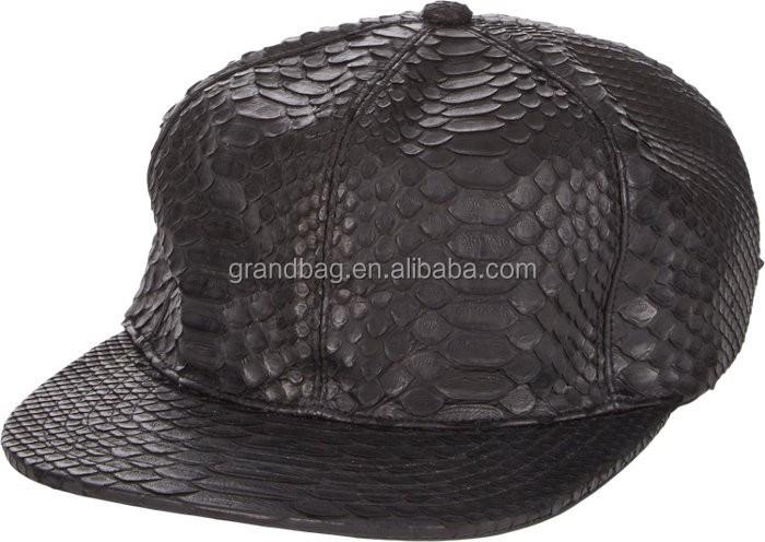 Luxury Genuine All Python Skin Leather Baseball Cap Hat - Buy Python ... 0d1b39b7e7c