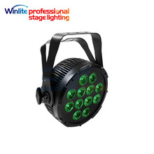 china guangzhou dj 12 pcs 4in1/5in1 /6in1rgbwa+uv led flat par can lights IP65