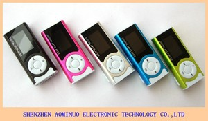 Portable mini mp3 player Clip Design Digital LED Light MP3 Player Music Player with TF Card Slot Screen