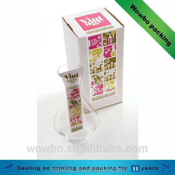 Fancy paperboard vase paper packaging box for sale