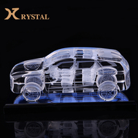 3d laser engraving decoration crystals model car,art and craft