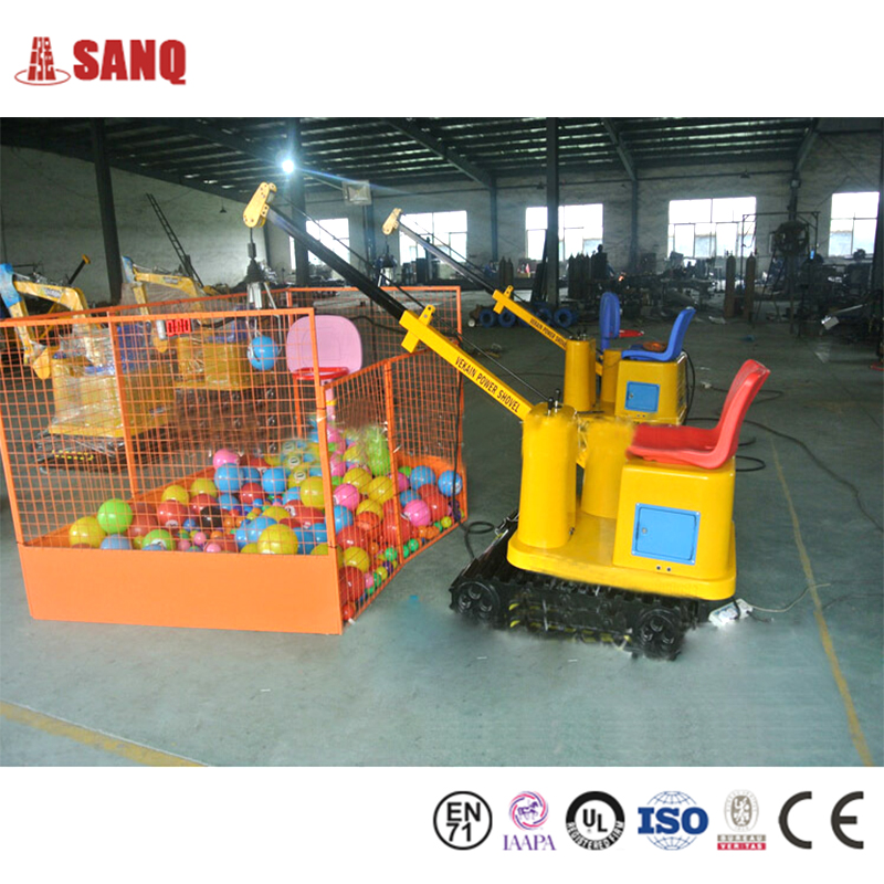 Outdoor and Indoor Playground mini truck crane Kids Game