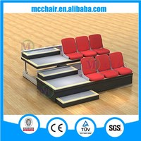 Celebration motorized retractable seat,power controled retractable bleacher for sports center