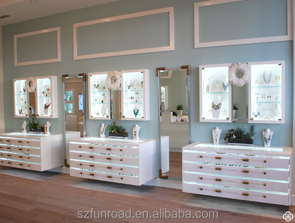 Retail Jewelry Display Cases Commercial Store Fixture Showcase For Hot Sale