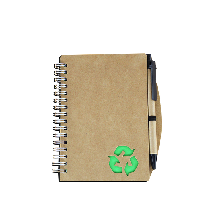 School supplier students elastic closure kraft notebook