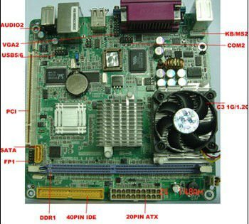 Onboard Cpu Industrial Motherboard With VGA;1xLAN;1xPS2;1 xPCI PCM5-CLE266