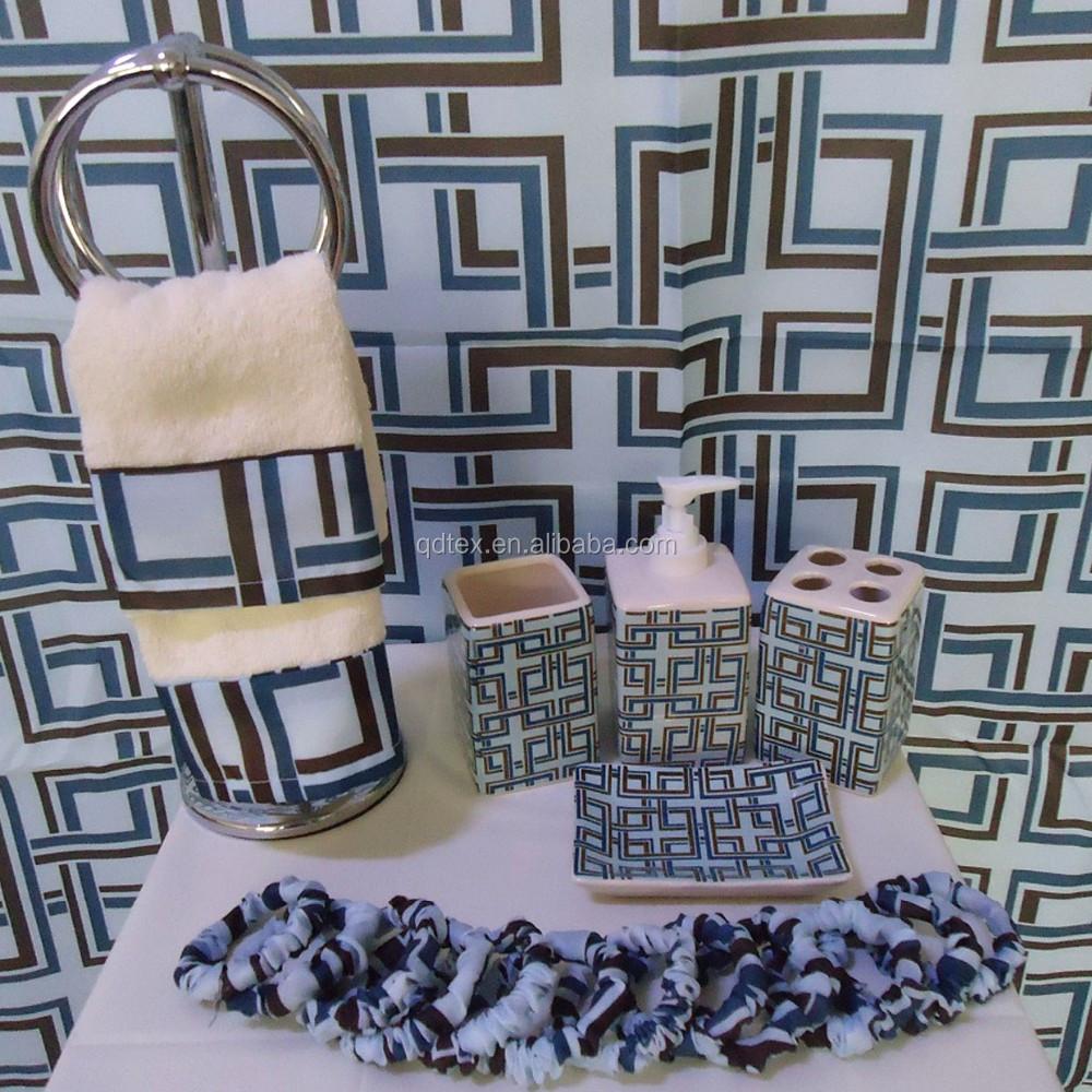 20 Piece Bath Set Bathroom Accessories Shower Curtain Accessory