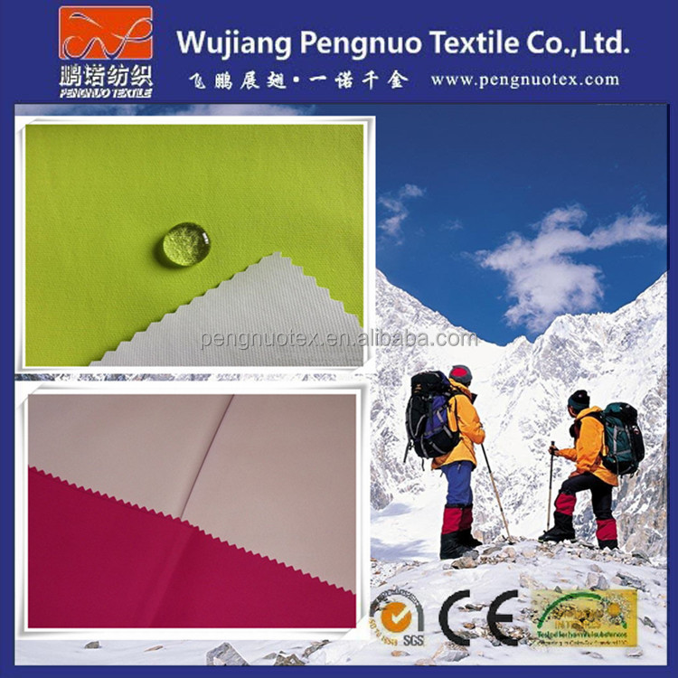 waterproof breathable fabric for outdoor sports wear/320D taslon ski-wear and horse rug functional fabric/goretex fabric