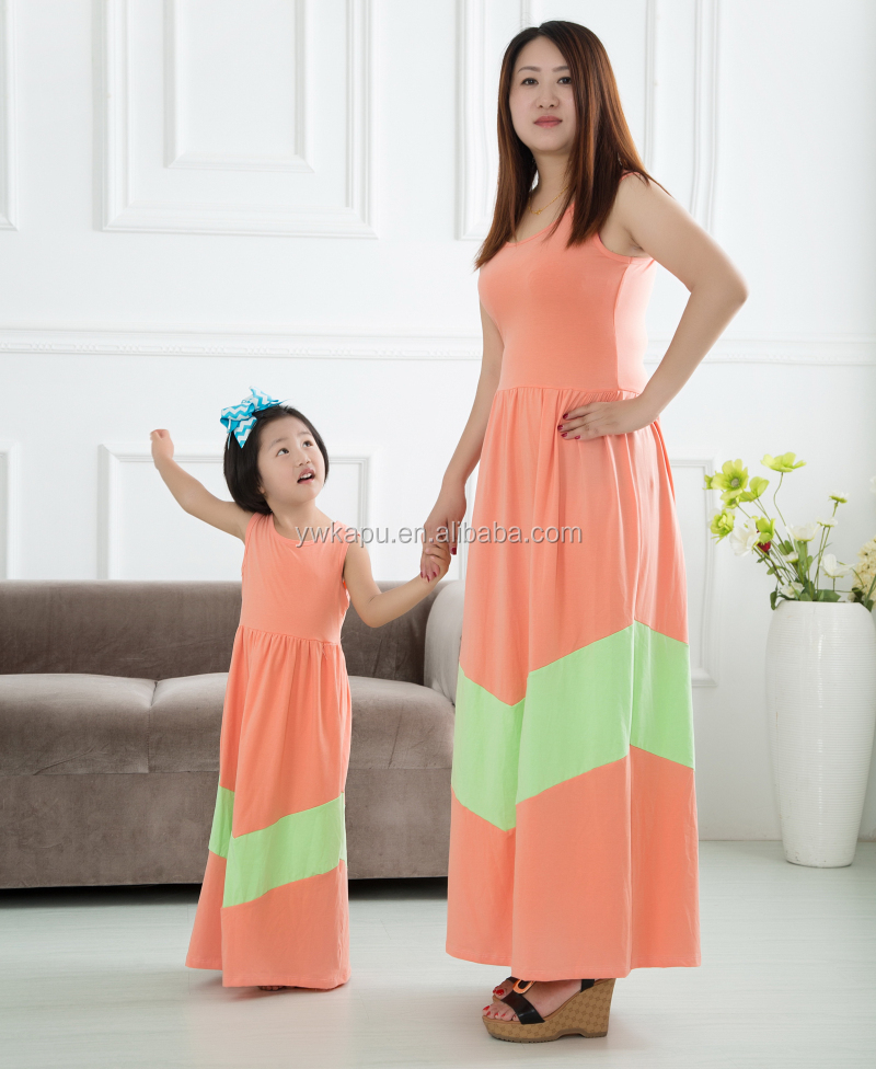 Mother and daughter cloth-3608