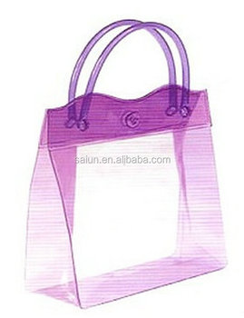Yiwu Factory Sale Make Up packaging clear pvc plastic bag with button