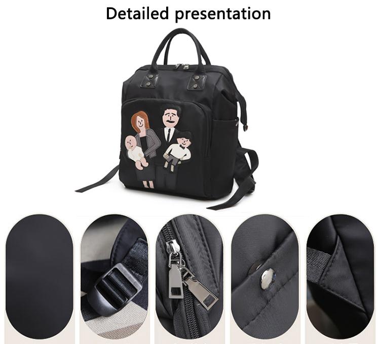 waterproof Mummy Nappy Shoulder Backpack bag