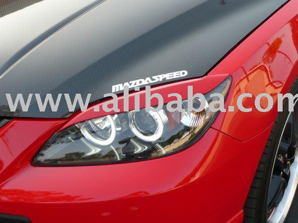 Mazda3 Hatchback Eyelids Eyebrows Headlight Light Brows Mazda 3 Hb 5d