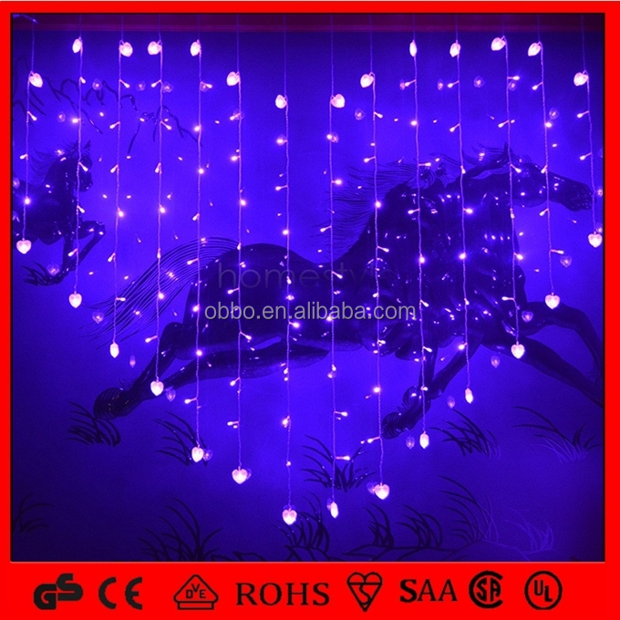 2015 Hot Sale Bule Heart Sting Light Hanging Small Heart for Valentine's Day/Room/Hotel/Restaurant/Party Decoration